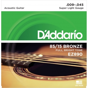 D´Addario EZ890 Super Light (9-45). Cuerdas guitarra acústica