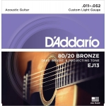 Daddario EJ13 Custom Light (11-52). Cuerdas guitarra acústica
