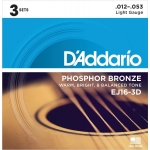 D´Addario EJ16-3D Light (12-53). Pack 3 juegos