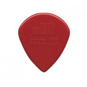 Púa Dunlop Nylon Jazz III (1.38 mm) roja
