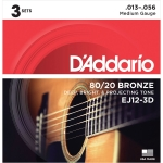 Daddario EJ11-3D Light (12-53). Pack 3 Juegos