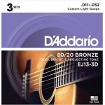 Daddario EJ13-3D Light (11-52). Pack 3 Juegos
